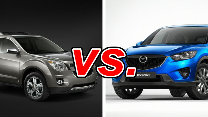 chevrolet equinox vs mazda cx 5 carsdirect. Black Bedroom Furniture Sets. Home Design Ideas