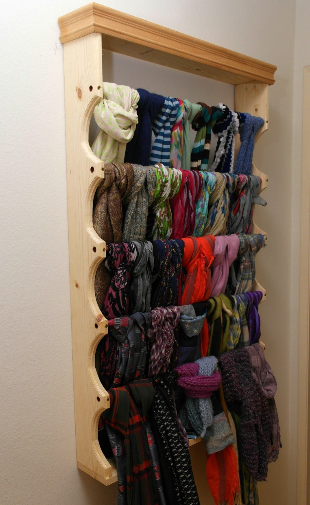 Build Your Own Custom Scarf Rack Doityourself Com