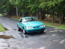 1991 coupe, calypso green with 3 inch cowl hood, kenne-belle supercharger and boost-a-pump, argent ponies, black interior, B&M hammer shifter....darn i miss this car but it had to go to buy a house (wouldn't stay out of my wallet, LOL)  this pic is only a representation of my real car...i have no pics i can download of it