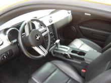 black leather interior