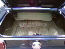 new matting in the trunk
