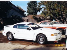This is before the bad times to come parked next to my 75' El Camino (Gone) and my wifes 68' Mustang (Gone.)