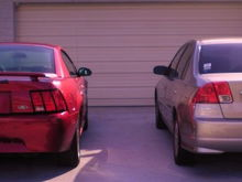 the stang and my 2004 civic