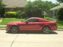 Side: 2010 Hypercoated GT Premium Wheels, 18x9 Front & 18x10 Rear