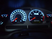 mach 1 gauge w/ cool white LEDs