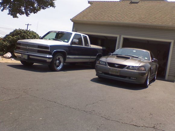 my whips... I can't decide if I'm chevy or ford.