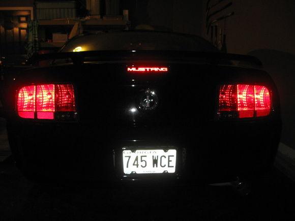 "Smoke tail Light tint and ""Mustang"" decal"