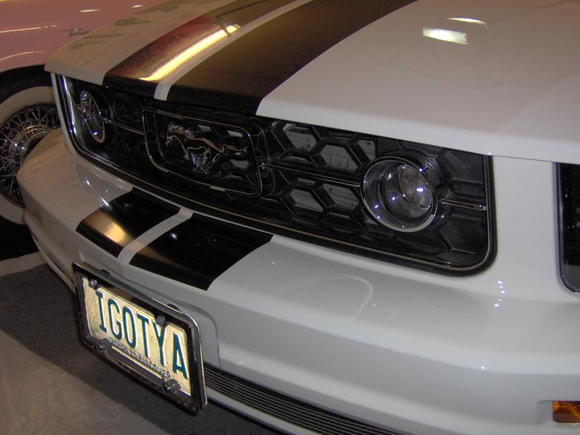 Chrome grill surround