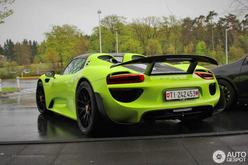 lime green porsche 918 spyder weissach   rennlist discussion forums