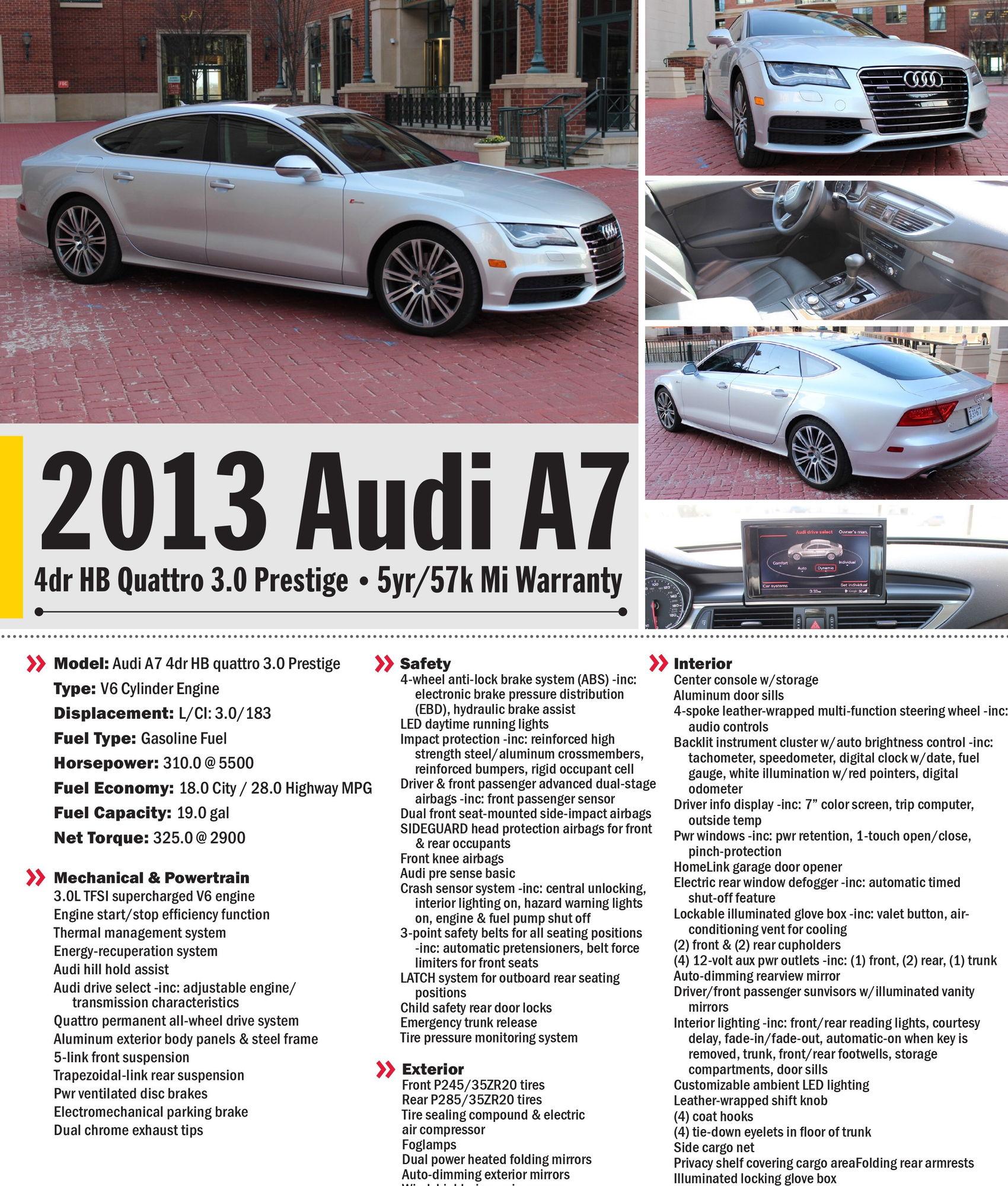 Audi A7 2013 AUDI A7