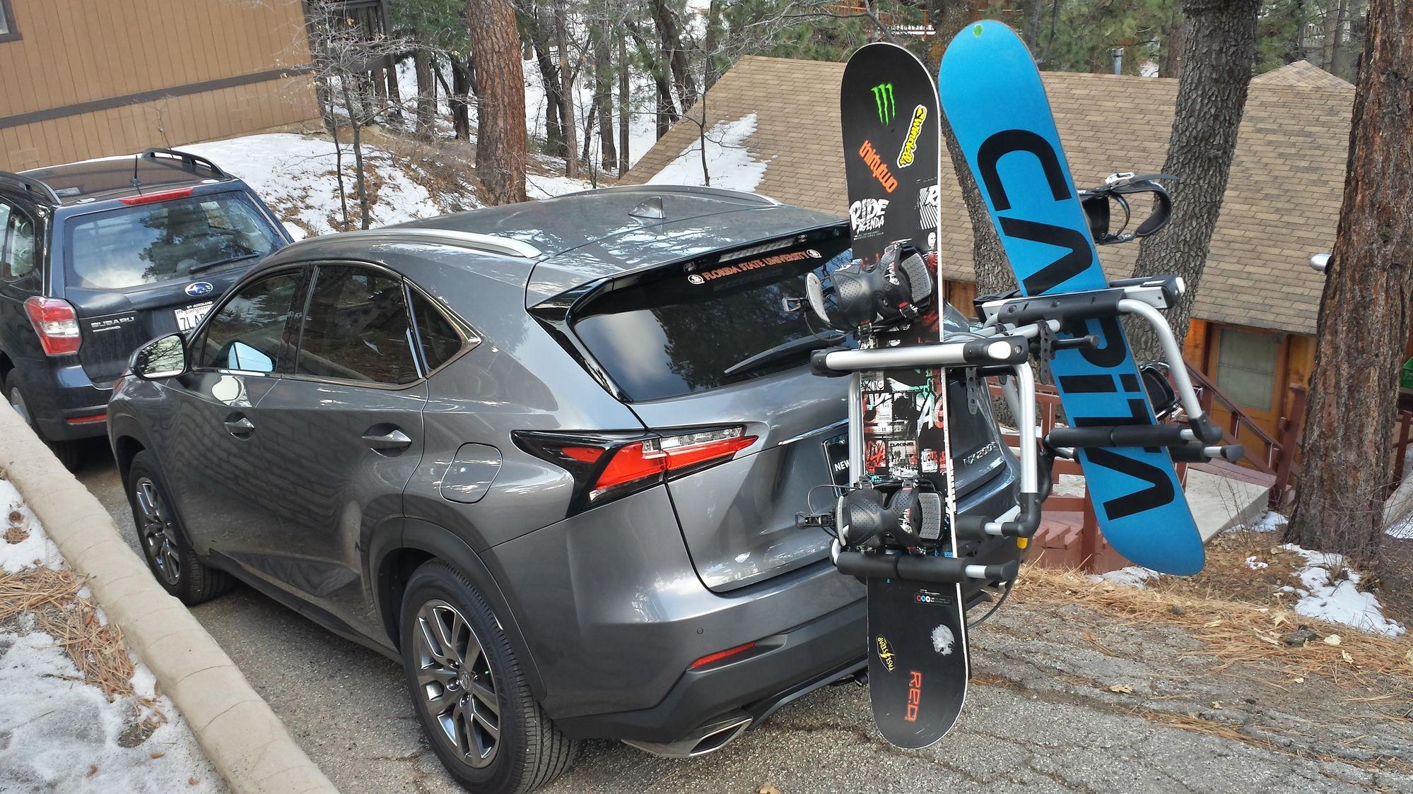 Diy bicycle snowboard ski racks w photos club lexus for Thule 1254