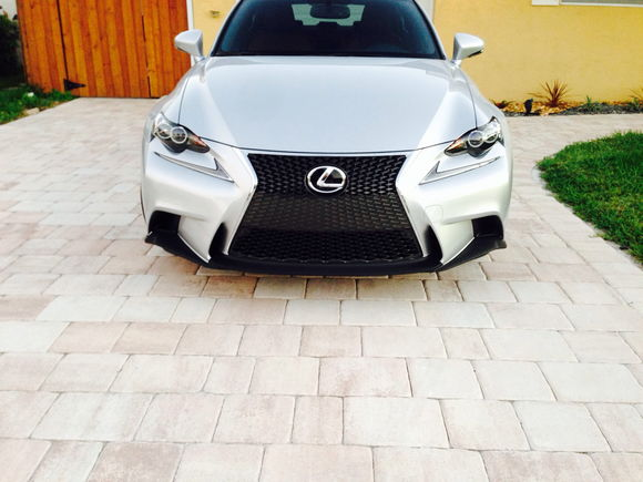 Front lip done in carbon fiber wrap!