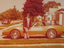 This is my dad and I in 1975 when he bought it.  He passed away in 1977 working on the car.  It took 35 years to track the car down and to buy it back!!!