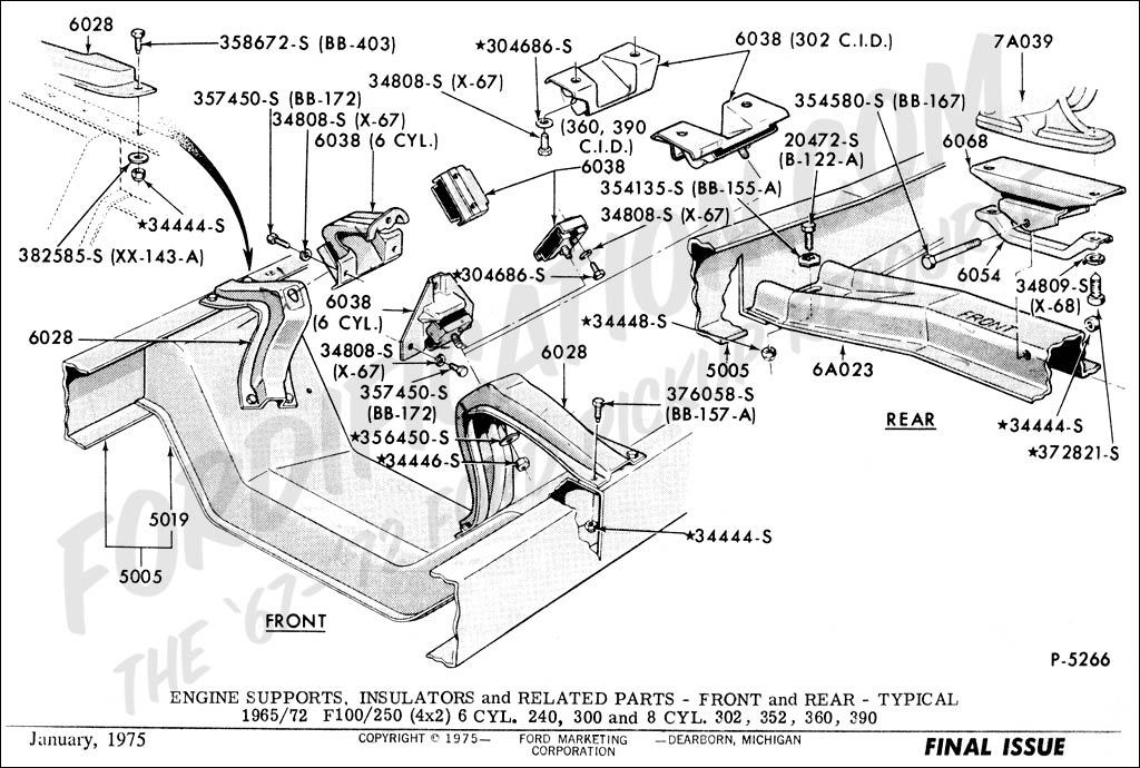 1365351 Installing C6 Rebuilt Transmission Crossmember Problems on 1971 ford pickup parts catalog