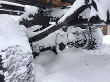 buried in the snow