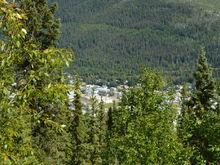 Looking down on Dawson City........