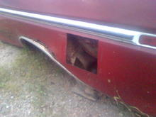Cut out gas tank door