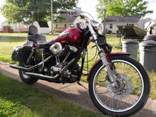 86 Wide Glide. I got it as a basket case and am building a nice ride.