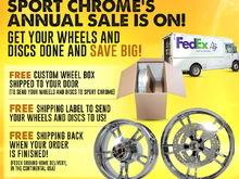 Get Your Wheels Chrome Plated! Annual Sale from Sport Chrome!