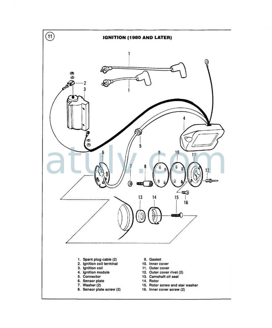 shovelhead dual coil wire diagram wiring library Magneto Wire Diagram