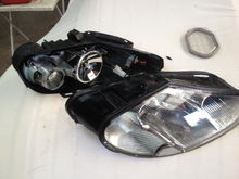 Split headlamp