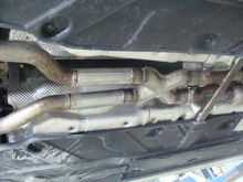 Benz C300 Muffler & Resonator Deleted