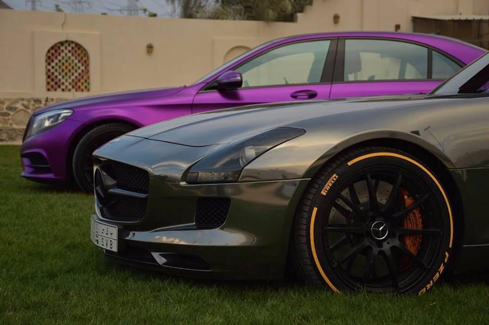 Purple mercedes benz s class chrome sls amg mbworld for Mercedes benz chrome