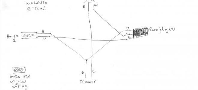 Hot topics replacing ceiling fans when a dimmer switch is in the sketch of the wiring aloadofball Choice Image