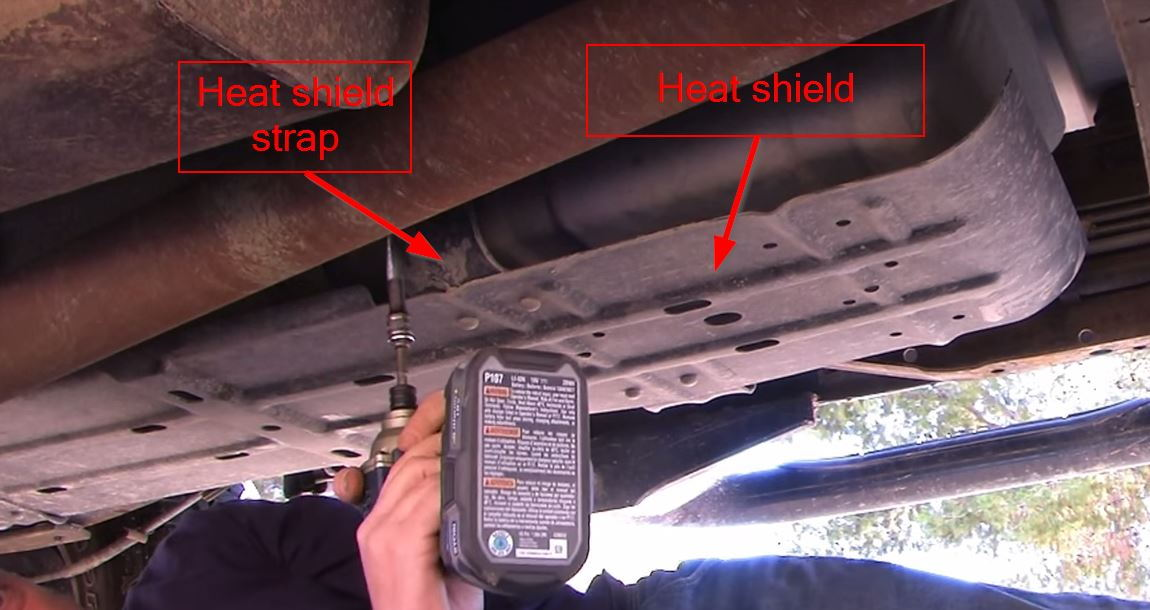 Figure 2 Heat shield protecting fuel tank 21147 ford f150 & f250 how to replace fuel pump ford trucks  at bayanpartner.co