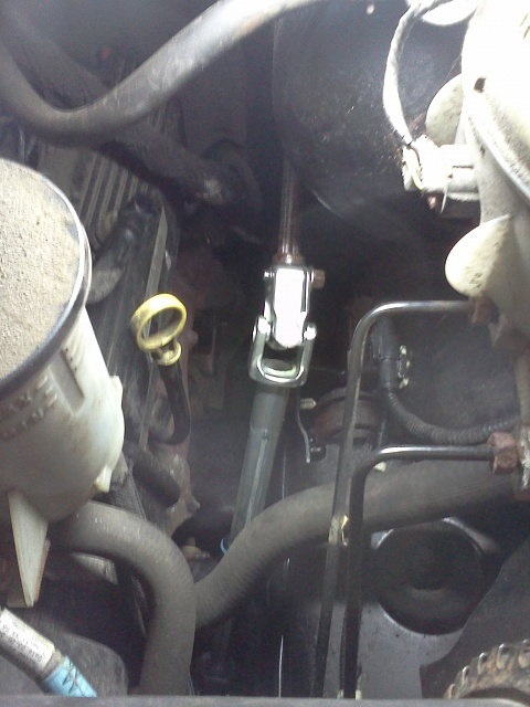 New Steering Shaft Installed