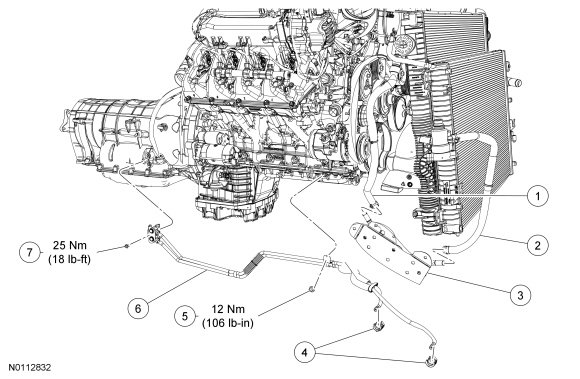 ford f150 f250 transmission leaks what causes ford trucks 5r110w transmsission cooler line diagram