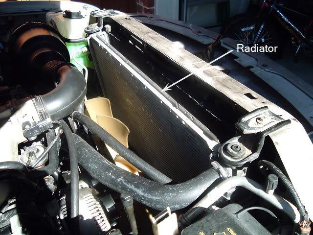 Step  Locate The Radiator