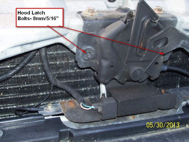 ford f150 f250 replace a locking hood release cable how to ford trucks rh ford trucks com 96 Ford Explorer Hood Latch 2007 Ford Focus Hood Latch