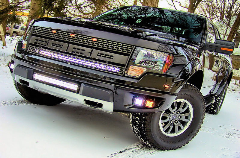 Ford f150 f250 aftermarket light modifications ford trucks f 150 with a light bar aloadofball Gallery
