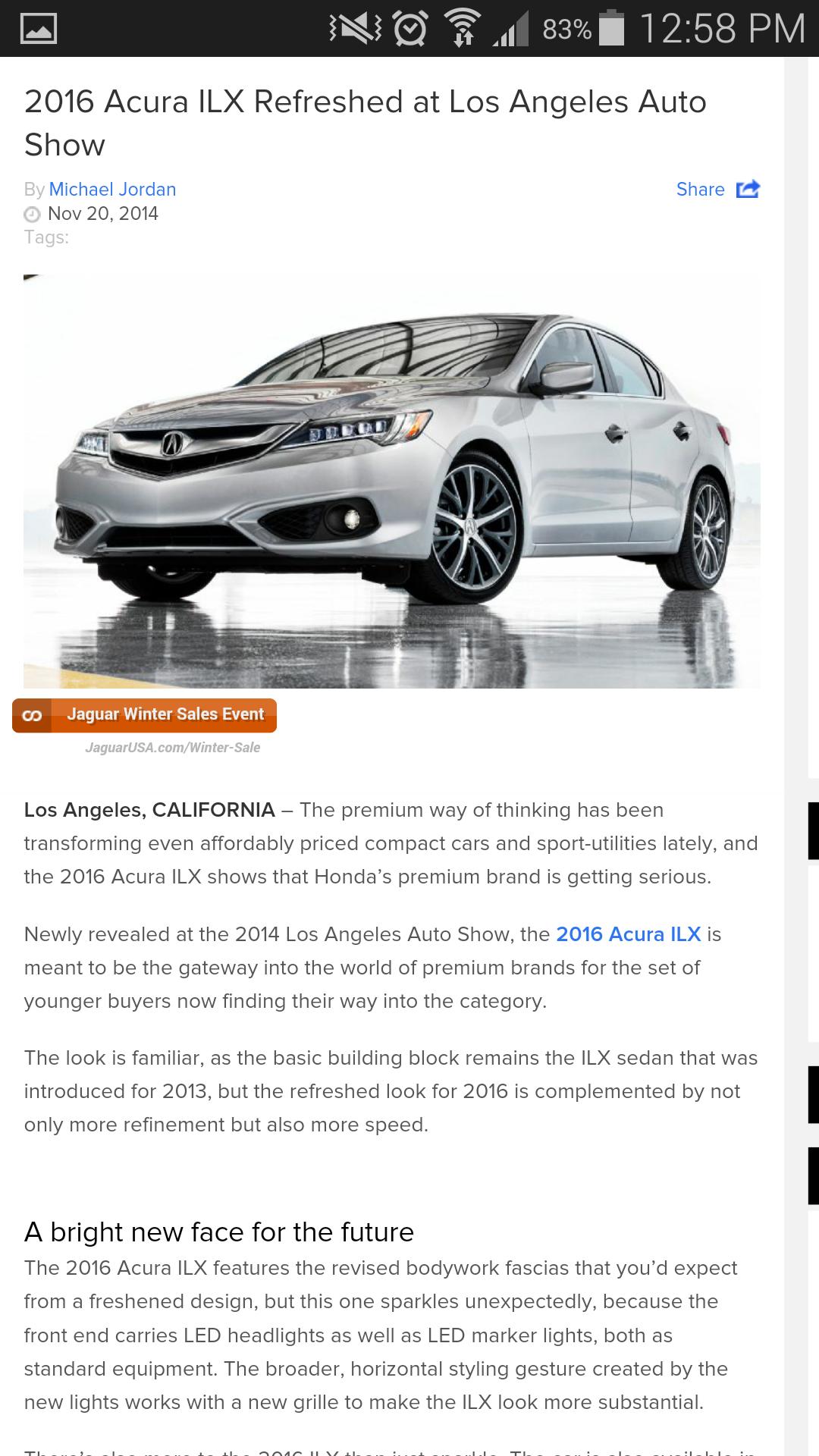 2016 ILX unveiled with Jewel Eyes and ASpec trim  AcuraZine