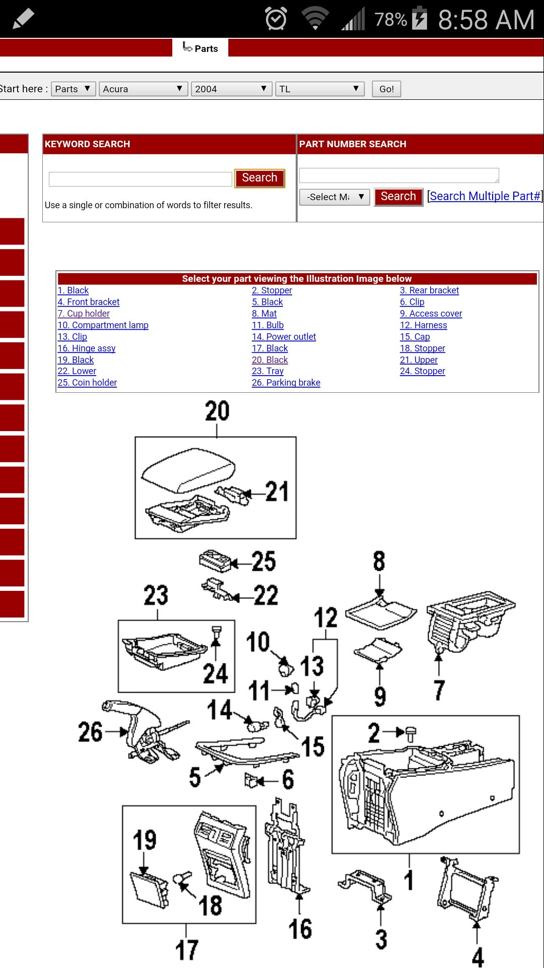 U0026 39 05 Acura Tl Center Console Cup Holder - Acurazine