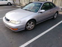 "I bought my very 1st Acura CL yesterday it is factory stock was only driven 6 months a year since it was purchased new off showroom floor. Seller was asking $2k.. I paid $1,400 mwahahaha  She is a '98 CL 2.3L  5-speed 171k miles With the ""premium interior"" upgraded plugs and wires from sh¡tty  OEM to NGK  had to replace the VVT switch , brake light switch and a blown fuse. t both able and legal to drive)"