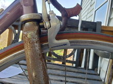 600AX brakes, rusty chromed fork