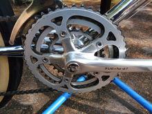 Sugino GT crankset - 48/40/28 chainrings
