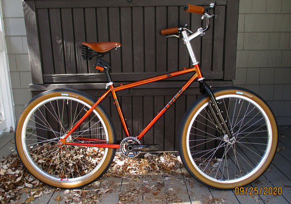 1996 Trek 970 ZX with fork, wheels, saddle.  Still have to add derailleurs, brakes, cabling.