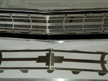 Two grille designs with mesh backing and LED lights. 6061 Aluminum from Garage Dog Creations.