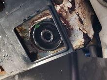 Underside of radiator.