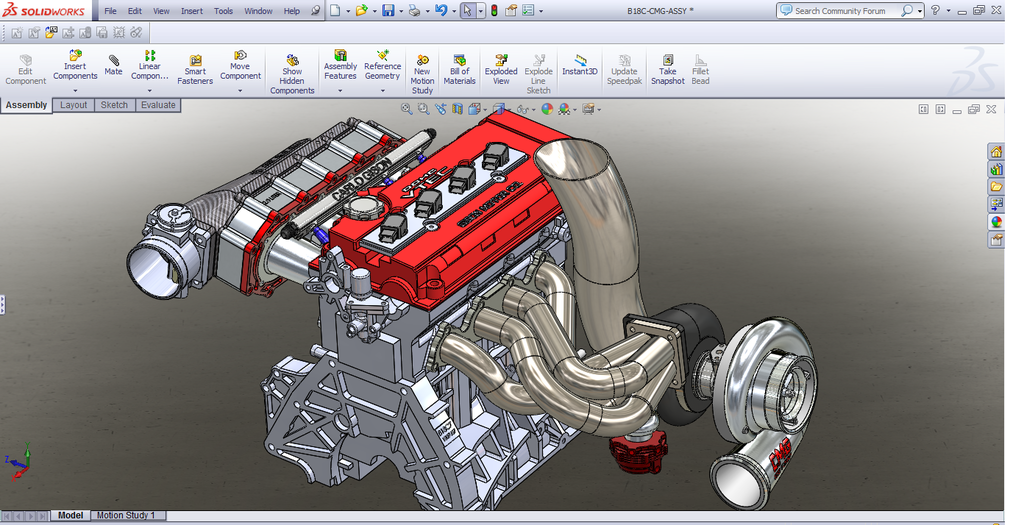 1000hp Bseries 3d Build Of Civic Hatch Solidworks Cad