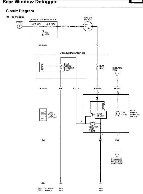 ctr defrost switch wiring - honda-tech