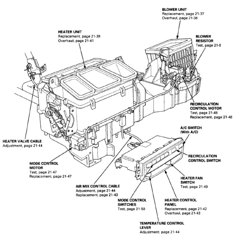 Motor When Key Is In Position 2 And Each Vent Modes Are Selected On Dash Looking For Info How To Test Part Labeled As Mode Control: 2001 Civic Engine Diagram Ac At Teydeco.co