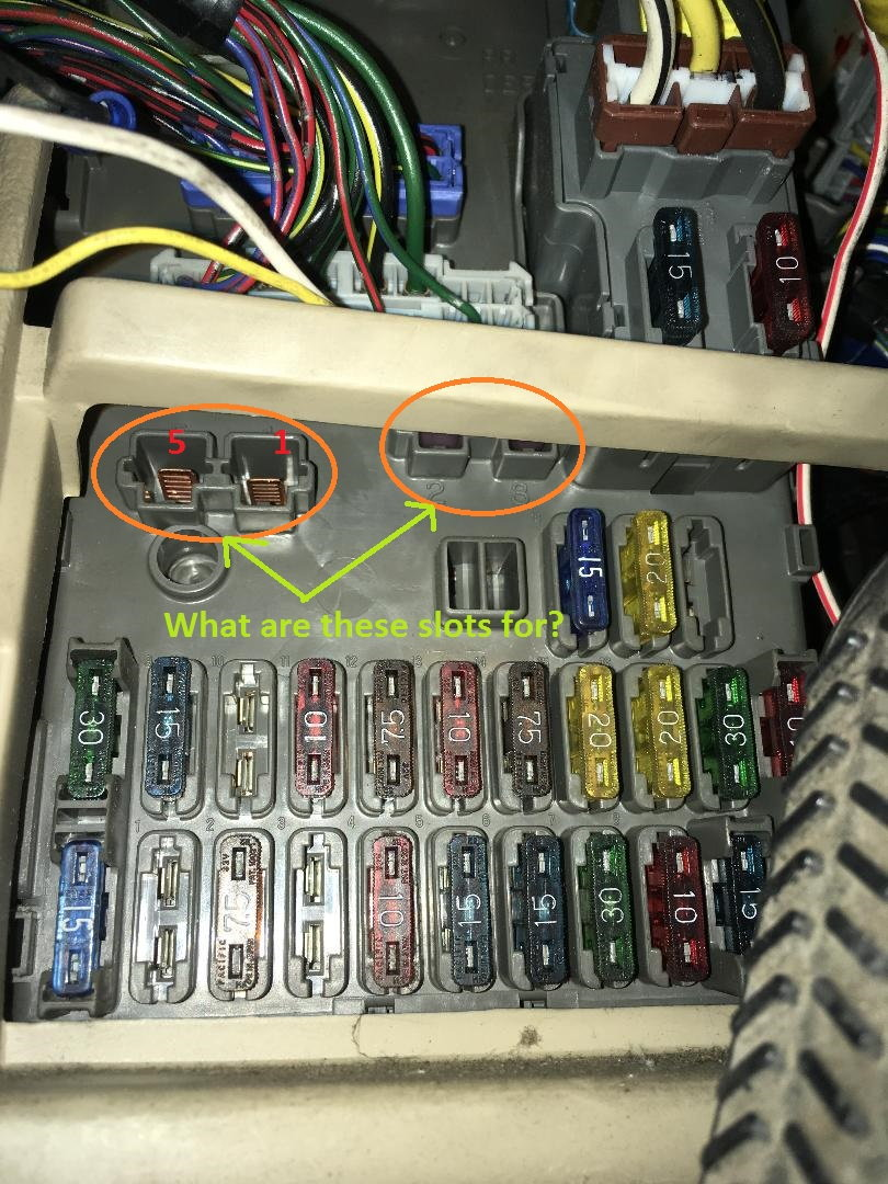 Decode Fuse Box On Driver Side Compartment