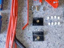 The Gerry Condez relocation kit with Magnecor wires, Wire loom holders and wire identifier clips