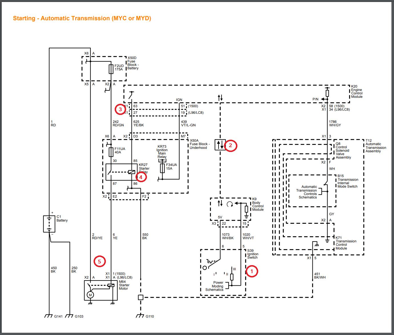 gen iv    gen v alternator and starter wiring  starter