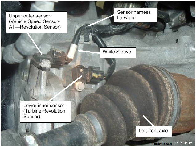 2000 nissan maxima speed sensor location? - Maxima Forums