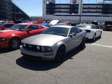 At the Las Vegas Speedway during the 50th Mustang Anniversary.